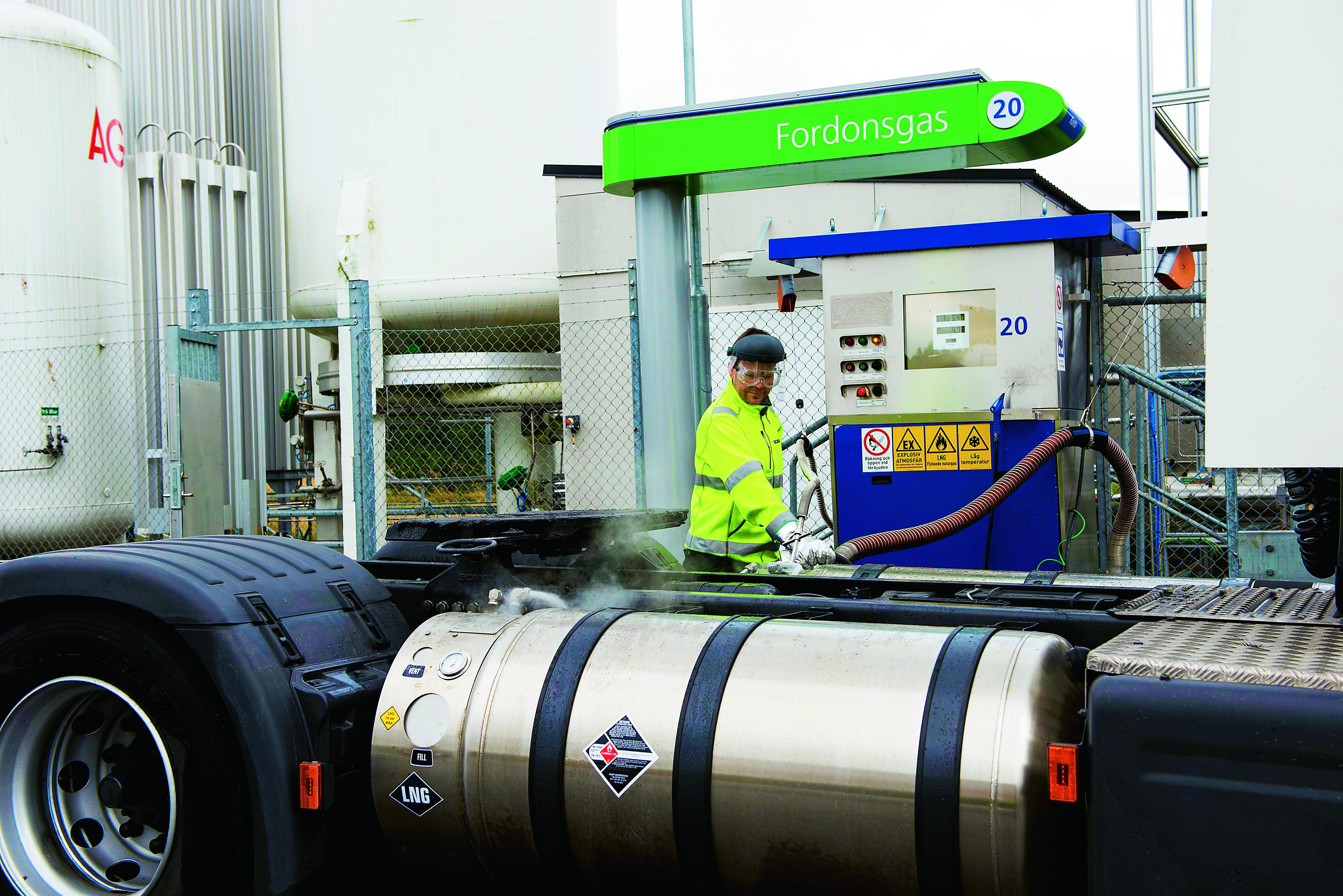 Rekordforsaljning av fordonsgas